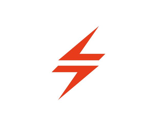 Flash blikseminslag logo sjabloon vector