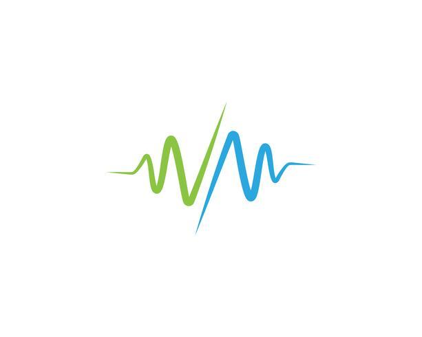Herzschlag Krankenhaus Linie Logo Vektoren
