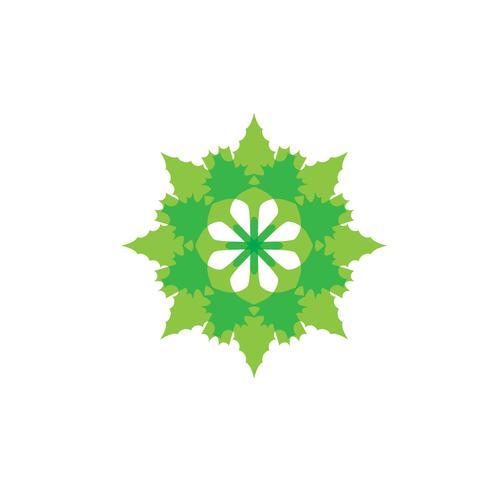 vettore di foglia verde ecologia natura elemento