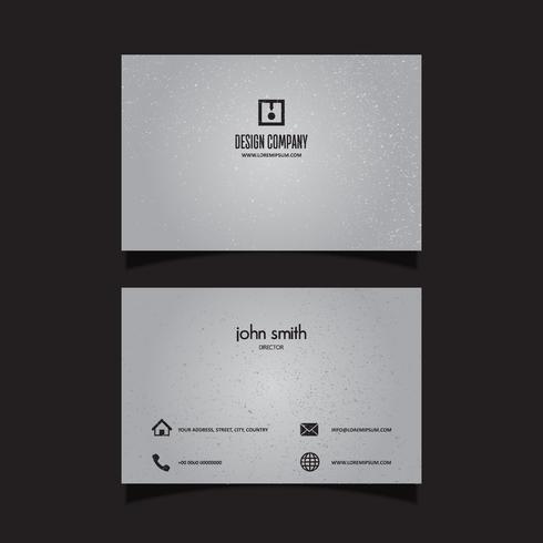 Subtle grunge business card design