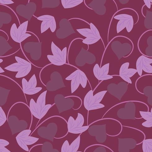 Naadloos purper bloemenbehang