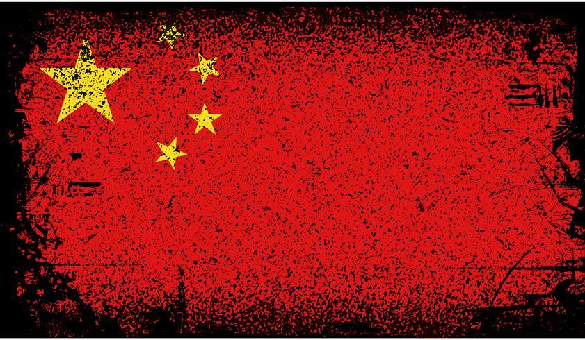 Bandeira do grunge de China