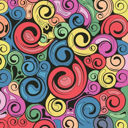 Retro Kunst des Strudels Muster-Hintergrund
