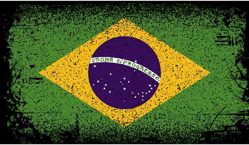 Brasilien Grunge Flagge