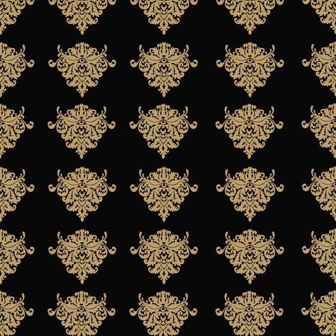 Priorità bassa ornamentale di lusso Webseamless. Damasco senza motivo floreale. Carta da parati reale