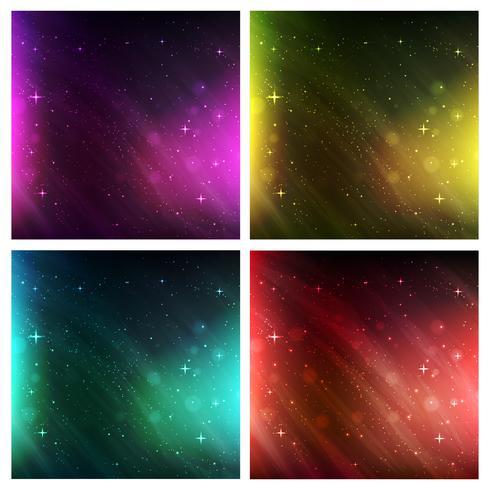 espacio backgroundabstract espacio de fondo. conjunto de fondo de vector