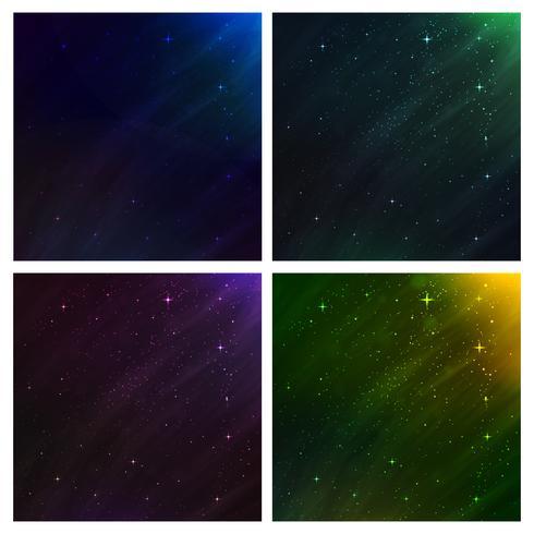 sfondo spazio astratto. set di sfondo vettoriale