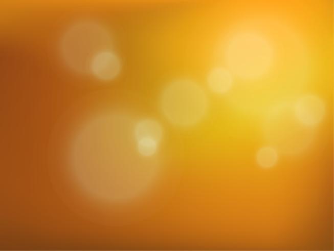 Fundo amarelo do bokeh. Ilustração vetorial