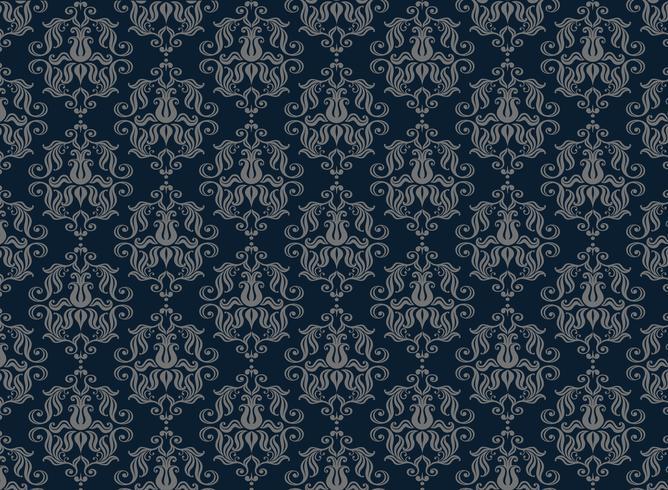 fundo ornamental de luxo sem emenda. Damasco padrão floral sem emenda. Papel de parede real.