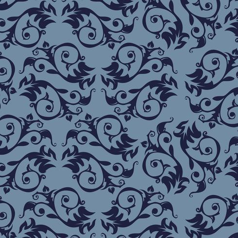 Fondo ornamental de lujo transparente. Damasco patrón floral sin fisuras. Papel tapiz real. vector