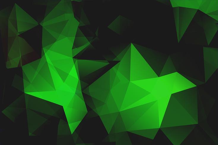 Fondo de forma poligonal verde