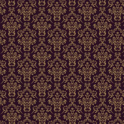 Fondo ornamental de lujo webseamless. Damasco patrón floral sin fisuras. Papel tapiz real. vector