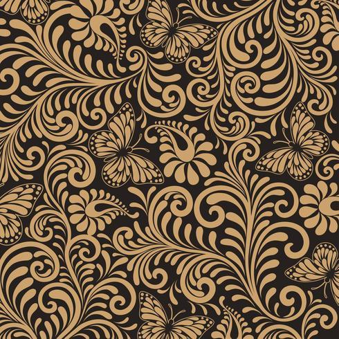 Webseamless padrão floral fundo. Fundo de estilo de luxo. ilustração vetorial