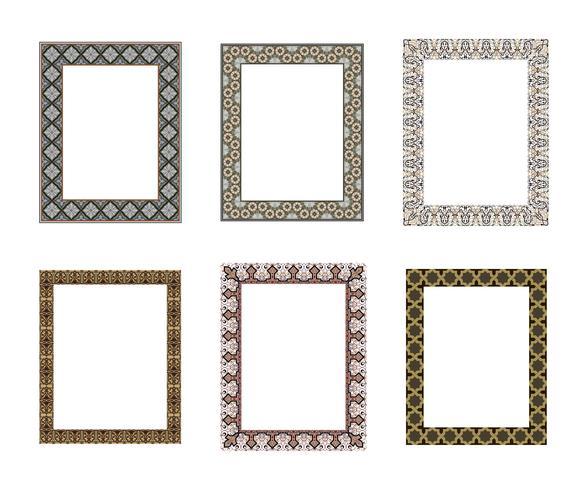 Vector decorative frame. Elegant element for design template, pl