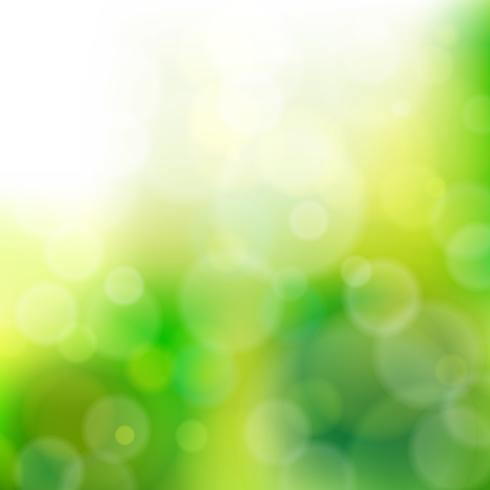Lights On Green Background - Vector Illustration, Graphic Design Useful For Your Design. Bright Green Abstract Background