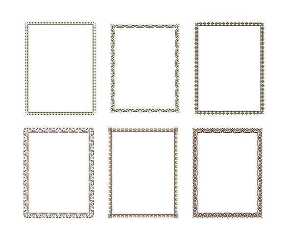 Vektor dekorativa ram. Elegant element för designmall, pl