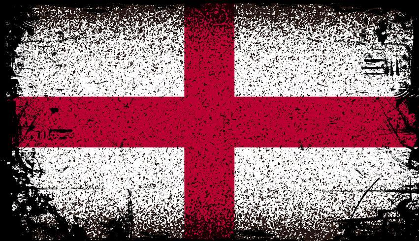 Bandeira do grunge de Inglaterra vetor