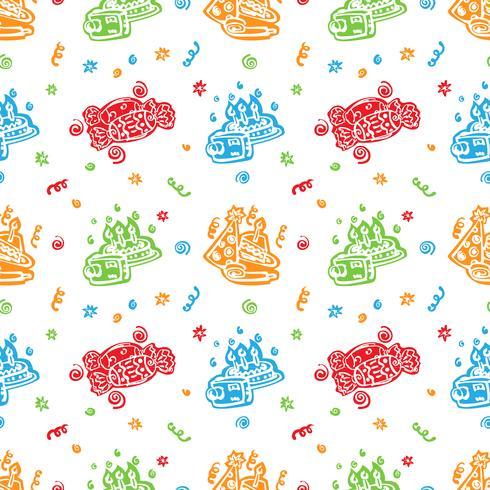 Fondo de colores feliz cumpleaños patrón