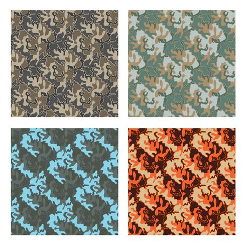 design padrão de camuflagem com cor diferente