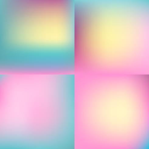 set di sfondo sfocato di colore dolce. design a colori pastello