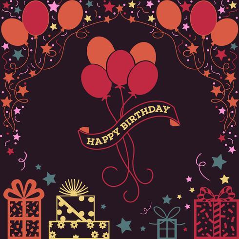 Fondo feliz cumpleaños ilustración vector