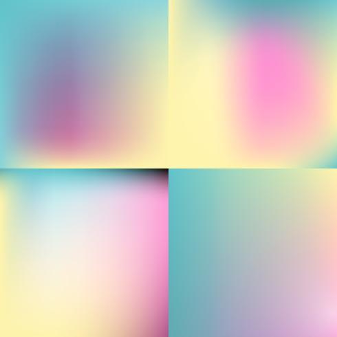 söt färg suddig bakgrundsuppsättning. pastellfärg design
