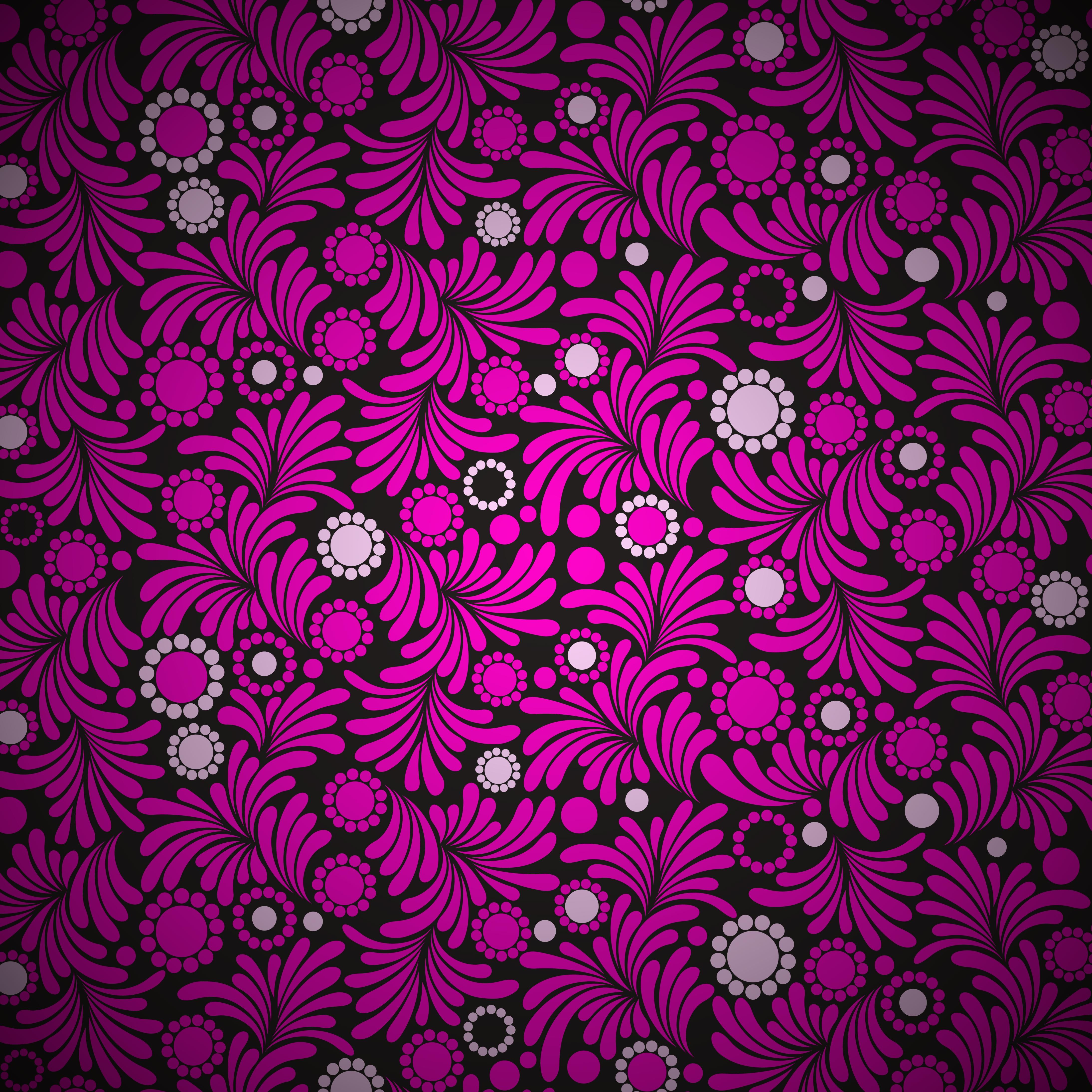 Seamless Purple Floral Wallpaper Download Free Vectors Clipart