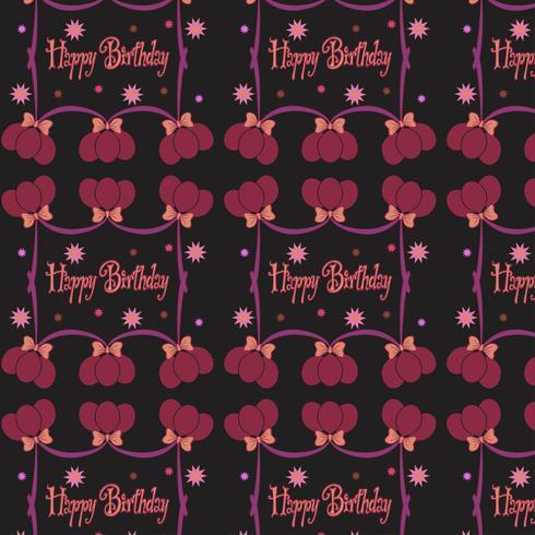 Happy birthday pattern Background