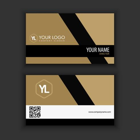Moderne kreative und saubere Visitenkarte-Schablone mit Goldschwarzem