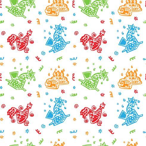 colorido feliz aniversário padrão de fundo