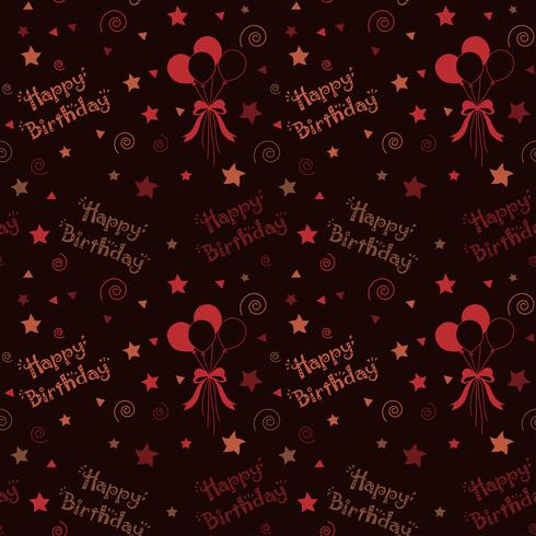 Motif joyeux anniversaire fond de couleur marron