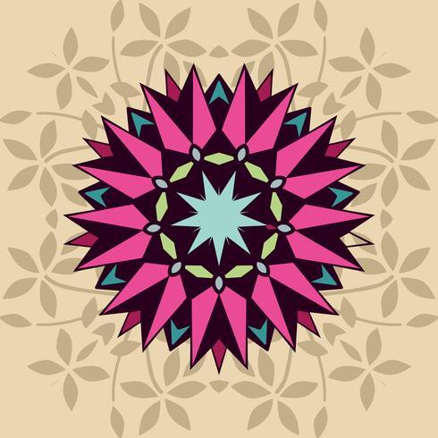 Forme décorative avec floral