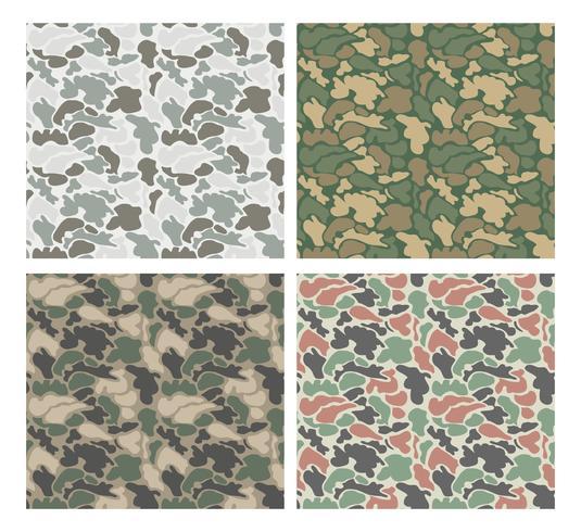 Diseño de camuflaje con diferentes colores.