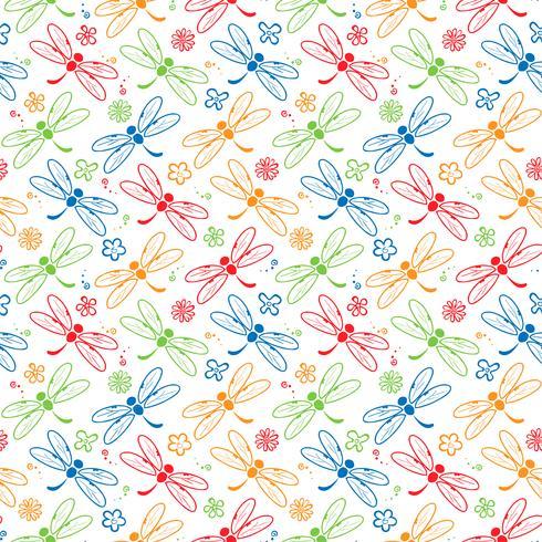 Libelle bunte Muster Hintergrund