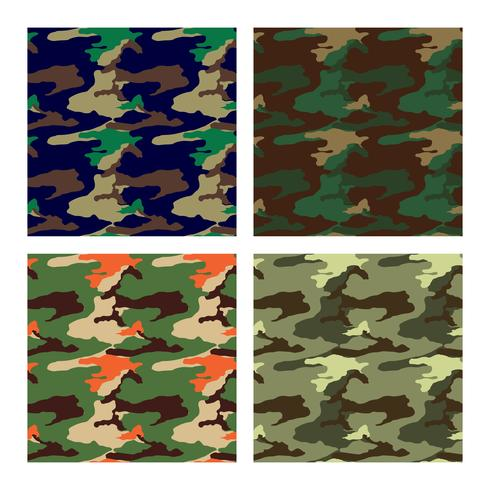 kamouflage mönster design med olika färg