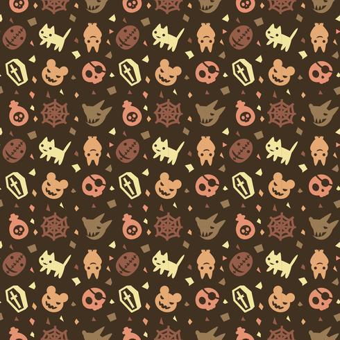 bonito fundo de padrão de halloween com cor marrom
