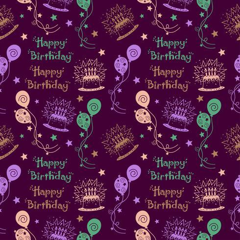 Modèle joyeux anniversaire fond de couleur pastel