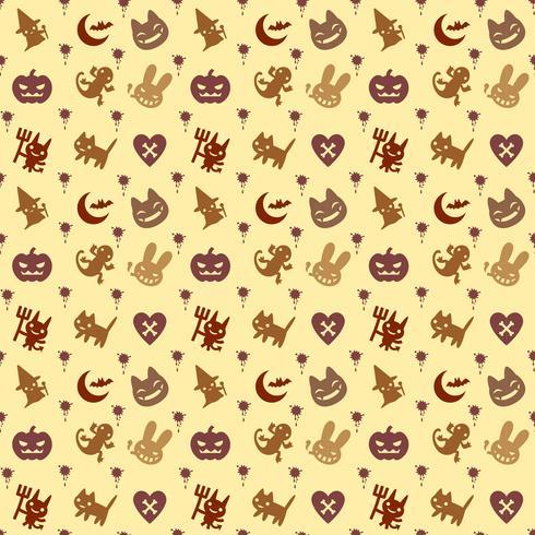 mignon fond hallowen avec couleur marron