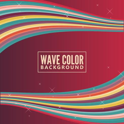 wave color background with retro color