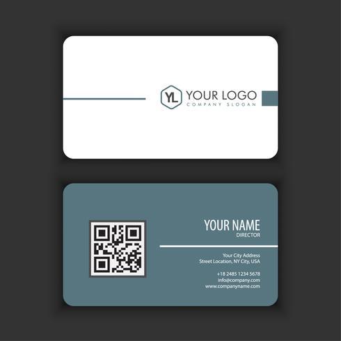 Sjabloon voor modern, creatieve en schone visitekaartjes met grijze kleur vector