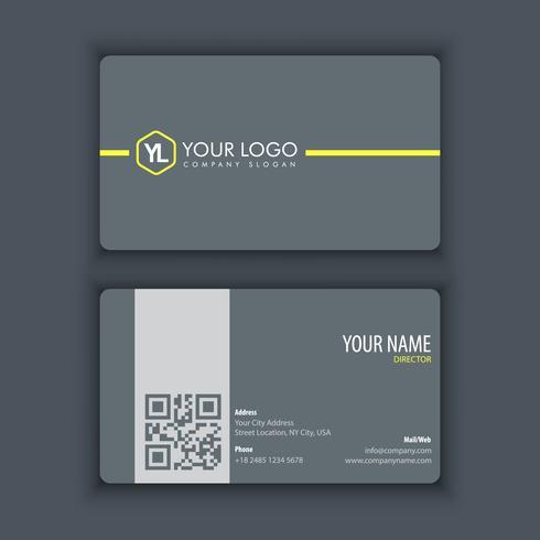 Sjabloon voor modern, creatieve en schone visitekaartjes met gele kleur