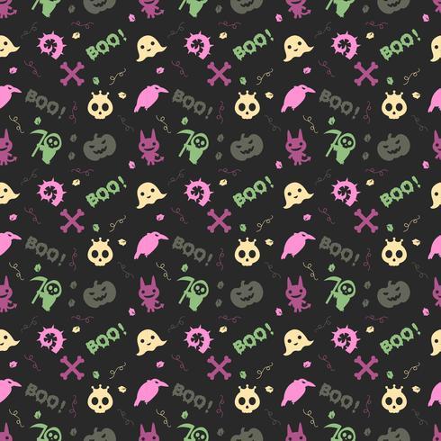 süße Halloween-Muster Hintergrund