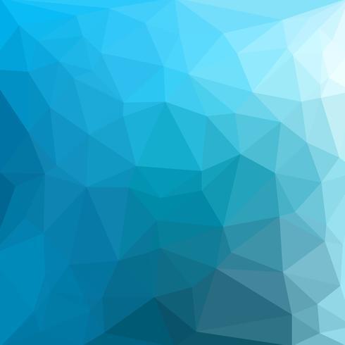 Azzurro cool vector Sfondo low poly crystal. Modello di progettazione poligono. Basso poli illustrazione sfondo.
