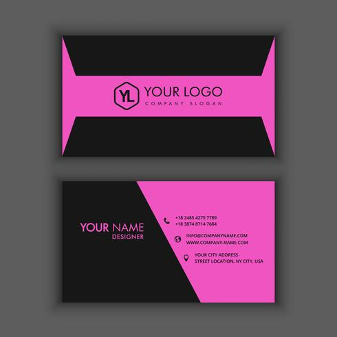 Modern Creative and Clean Business Card Template with purple dark color vector