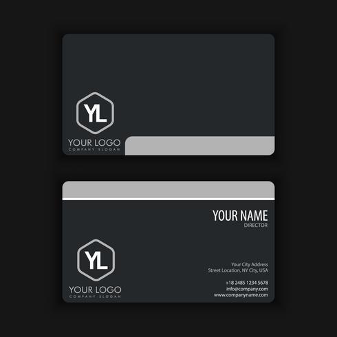 tarjeta de visita limpia y oscura vector