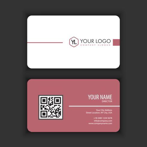 Moderne kreative und saubere Visitenkarte-Schablone mit lila dunkler Farbe