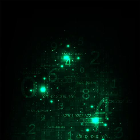 La información es abundante en digital. vector