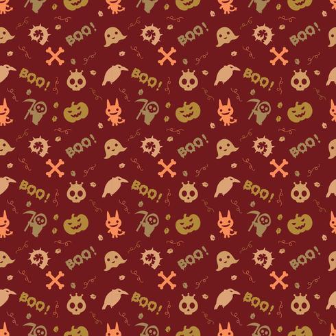 söt hallowen mönster bakgrund