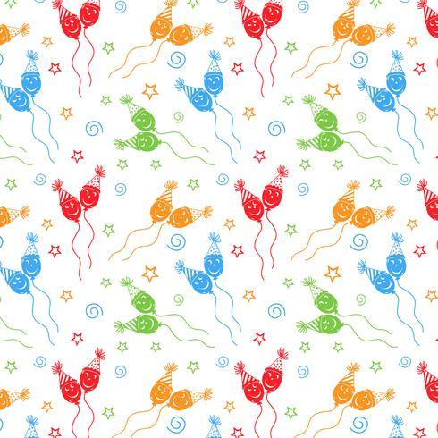 Grattis på födelsedagen mönster Bakgrund