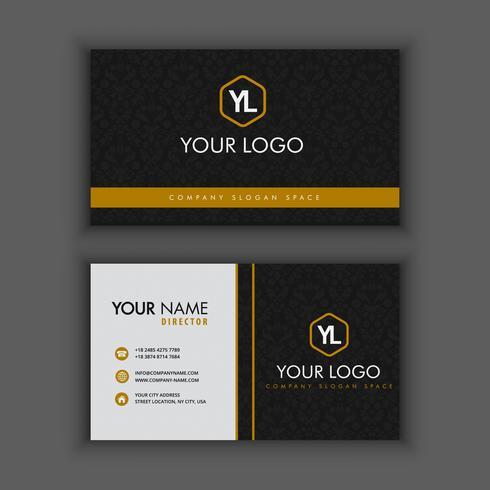 Moderne Kreative Und Saubere Visitenkarte Schablone Mit